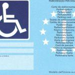 Contrassegno per parcheggio disabili