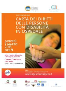 Disabili in ospedale con la nuova Carta dei Diritti