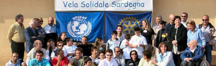 Foto di un raduno dell'Associazione Vela solidale Sardegna