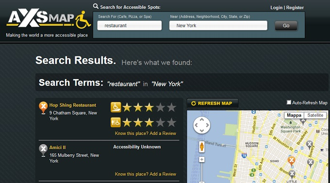 axs map rende New York accessibile