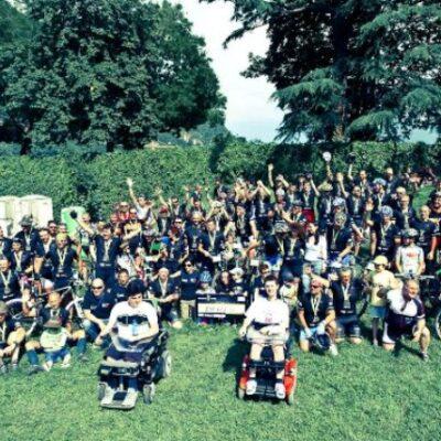 incontro a Roma bikers contro duchenne