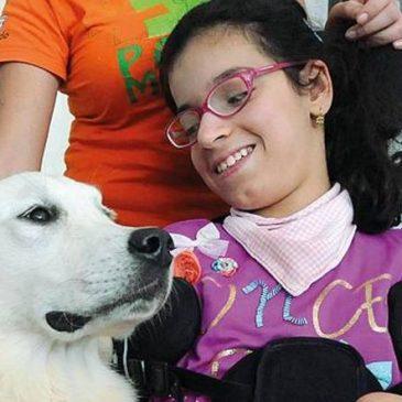 Francesca con il cane Light
