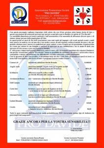 Locandina Associazione Pro Davide