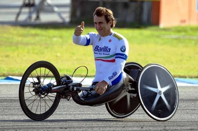Alex Zanardi campione paralimpico di hand bike