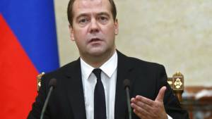 Il premier russo Dimitri Medvedev