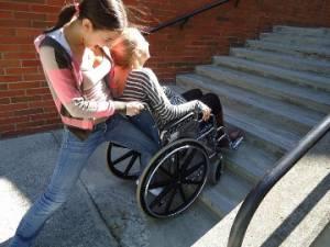 Studenti solidali con i compagni disabili