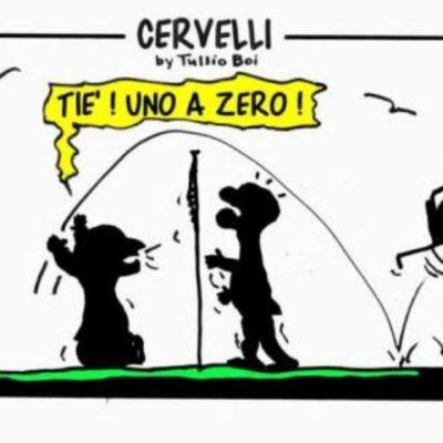 Vignetta sul Sitting Volley tratta dal libro di Tullio Boi