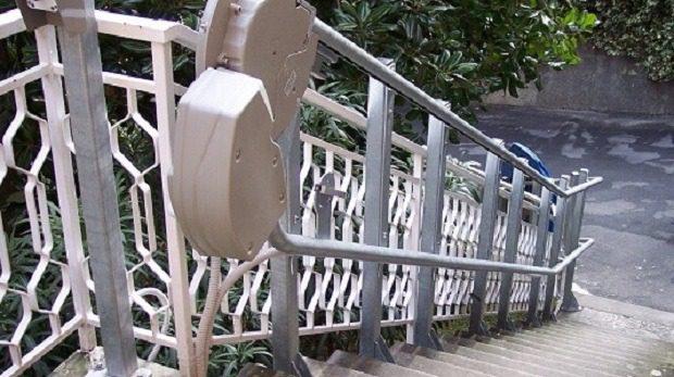 installazione servoscala a piattaforma a santa Margherita ligure