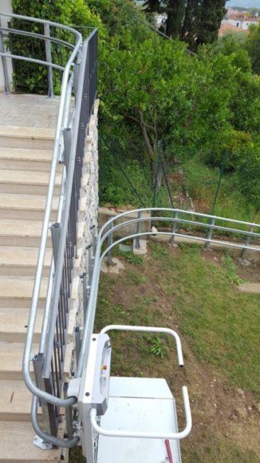 Servoscala per esterno percorso lungo 43 metri
