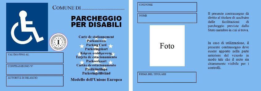 Contrassegno invalidi e disabili